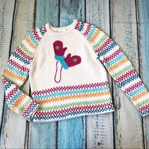 Hanna andersson Girl's Sweater White Cotton